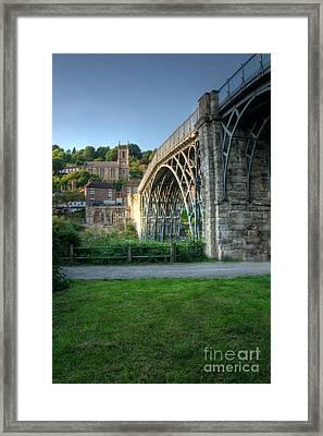 Ironbridge And St Luke's Church Framed Print by Mickey At Rawshutterbug