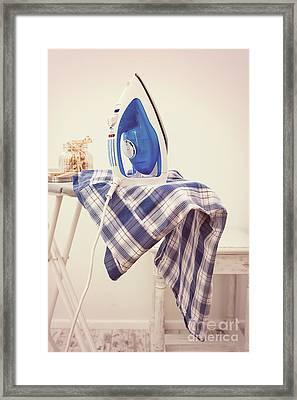 Ironing Framed Print by Amanda Elwell