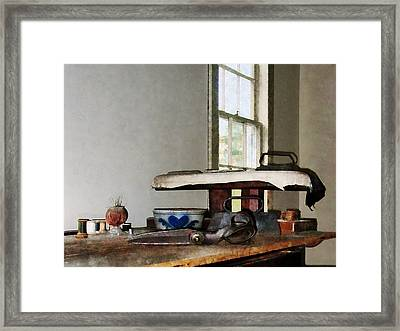 Ironing Day Framed Print