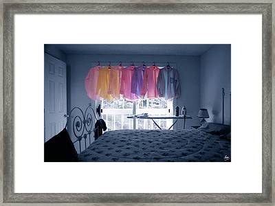 Ironing Use To Make Me Blue Framed Print