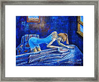 Ironing Framed Print by Viktor Lazarev