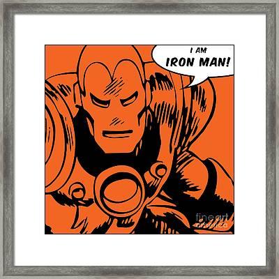 Ironman Framed Print by Andrea Meneghini