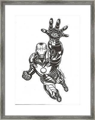Ironman Framed Print by MoryDeCrazy
