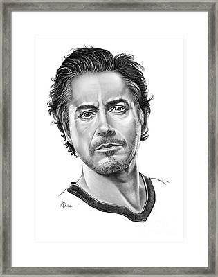 Robert Downey Jr Framed Print by Murphy Elliott