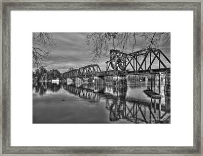 Ironman Trestle 2 6th Street Bridge Augusta Georgia Framed Print by Reid Callaway
