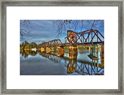 Ironman Truss Augusta Ga 6th Street Trestle Bridge Framed Print by Reid Callaway