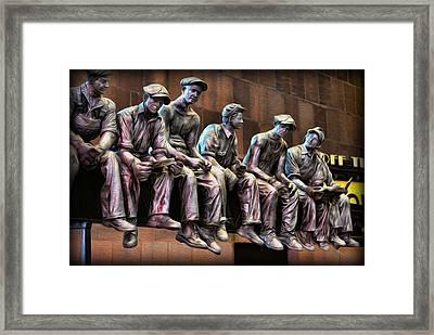 Ironworkers Having Lunch II Framed Print