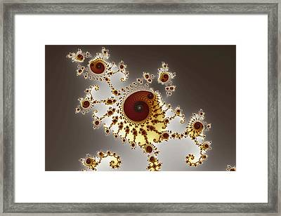 Irregular Bow Spirals No. 1 Framed Print by Mark Eggleston