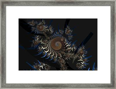 Irregular Bow Spirals No. 2 Framed Print by Mark Eggleston