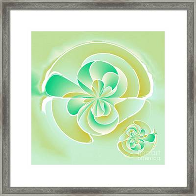 Irregular Floral Shapes Framed Print