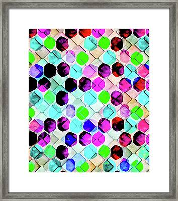 Irregular Hexagon Framed Print