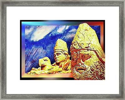 Irreplaceable   Ancient  Glory Framed Print by Hartmut Jager