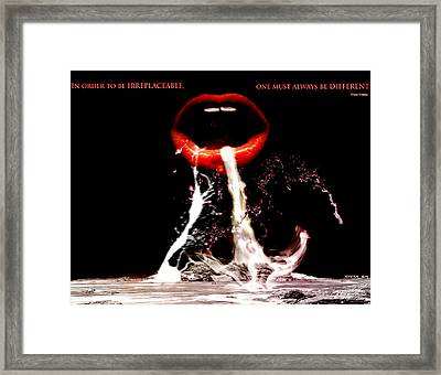 Irreplaceable Framed Print