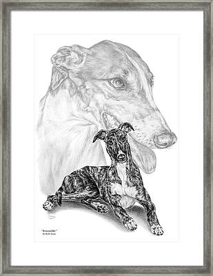 Irresistible - Greyhound Dog Print Framed Print