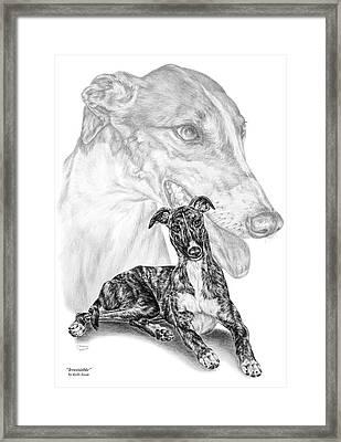 Irresistible - Greyhound Dog Print Framed Print by Kelli Swan