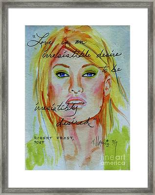 Framed Print featuring the painting Irresistible by P J Lewis