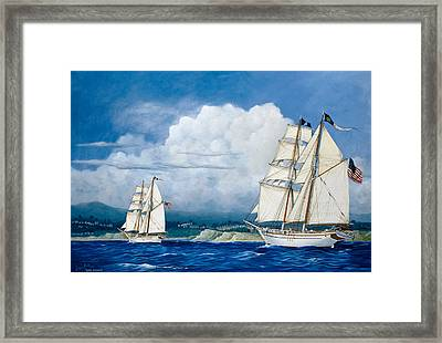 Irving And Exy Johnson Framed Print by Laurie Bath