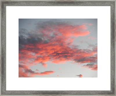 Is He Coming In The Clouds Framed Print by Jeanette Oberholtzer