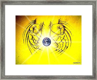 Is In Your Hands Framed Print by Paulo Zerbato