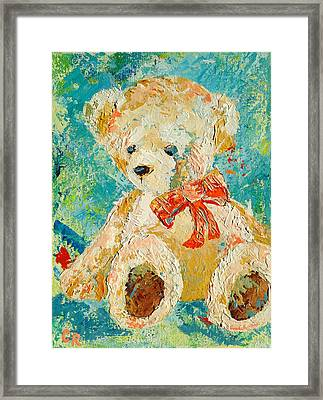 Framed Print featuring the painting Is It Playtime Yet? by Chris Rice