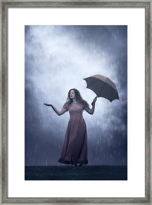 Is It Still Raining? Framed Print