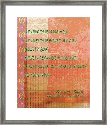 Is It Wrong Framed Print by Paulette B Wright