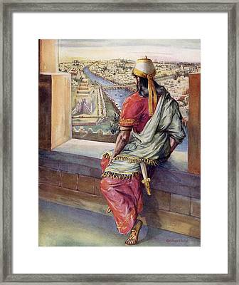 Is Not This Great Babylon That I Have Framed Print by Vintage Design Pics