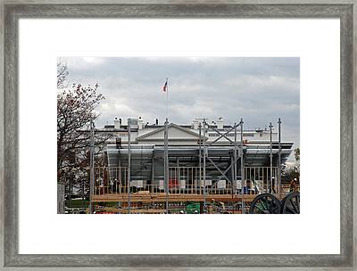 Getting Ready For President Obama Framed Print by Cora Wandel