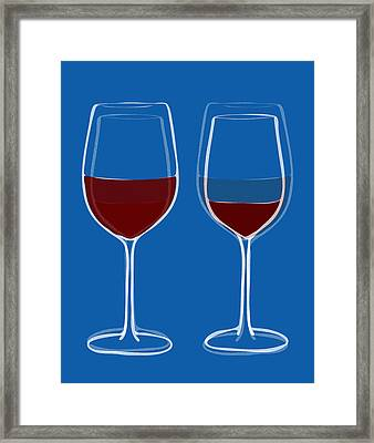 Is The Glass Half Empty Or Half Full Framed Print by Frank Tschakert