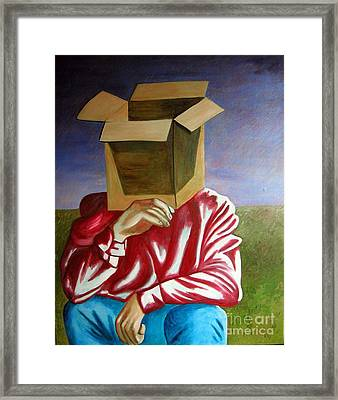 Is The Self Just An Empty Box Framed Print by Tanni Koens