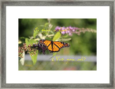 Is There A God Framed Print by EricaMaxine  Price