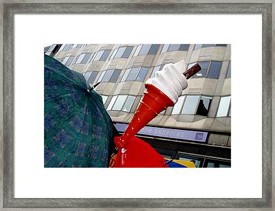 Is There A Wrong Day For Ice Cream Framed Print by Jez C Self