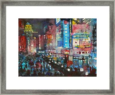 Is There Anything Going On Tonight In Downtown Framed Print by Dreja Novak