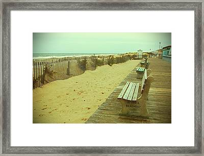 Is This A Beach Day - Jersey Shore Framed Print by Angie Tirado