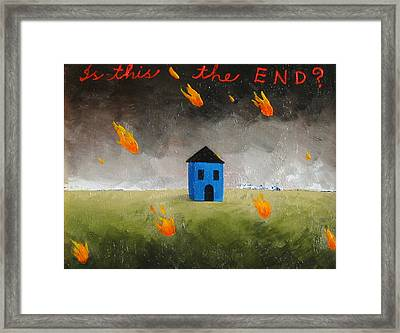 Is This The End Framed Print by Pauline Lim