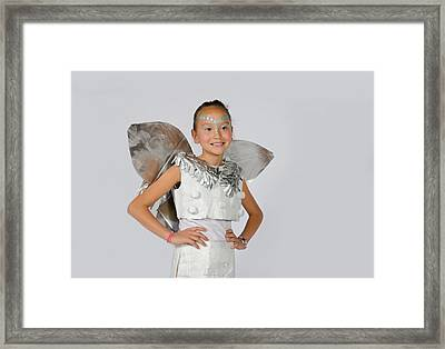 Isa In Snow Fairy Framed Print