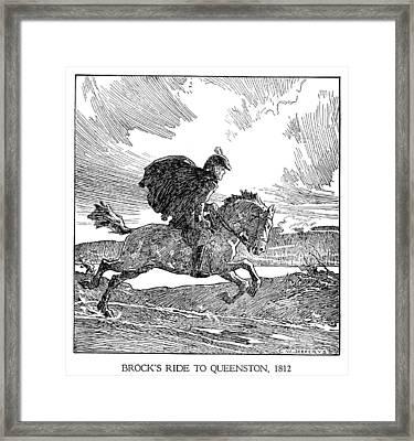 Isaac Brock (1769-1812) Framed Print by Granger