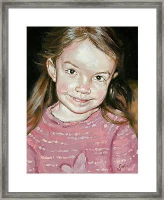 Isabeau Smiles Framed Print by Larry Seiler
