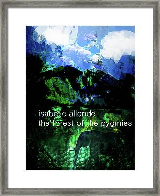 Isabel Allende Poster  Framed Print by Paul Sutcliffe