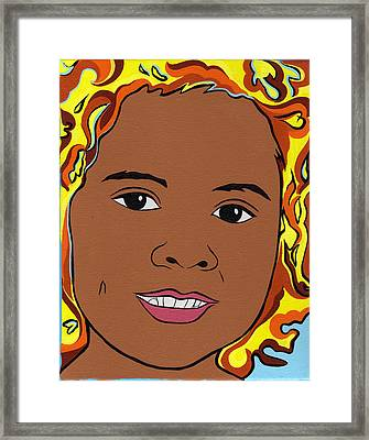 Isabel Framed Print by Lucia  Perez