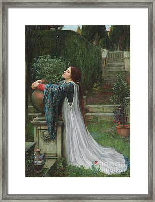 Isabella And The Pot Of Basil Framed Print