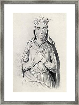 Isabella Of Angouleme 1188 To 1246 Framed Print