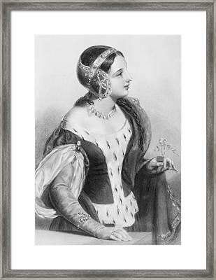 Isabella Of France, 1292-1358. Queen Framed Print