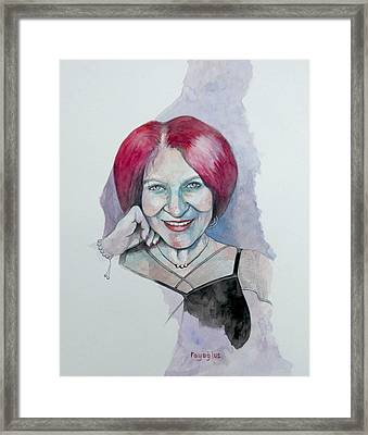 Framed Print featuring the painting Isabella by Ray Agius