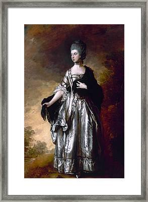 Isabella Viscountess Molyneux Later Countess Of Sefton Framed Print by Thomas Gainsborough