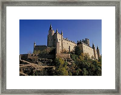 Isabella's Castle In Segovia Framed Print by Carl Purcell