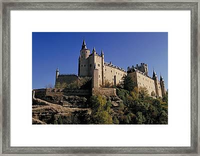 Isabella's Castle In Segovia Framed Print