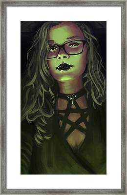 Isabely The Witch Framed Print by Leonardo Batista Torres