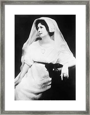 Isadora Duncan Framed Print by Underwood Archives