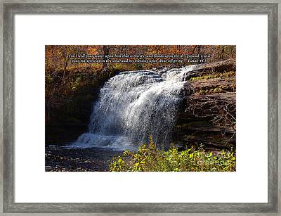 Framed Print featuring the photograph Isaiah 44 by Diane E Berry